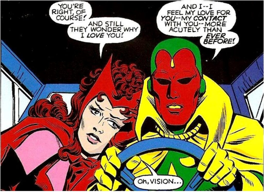 Scarlet Witch and Vision Have a Thing Going On