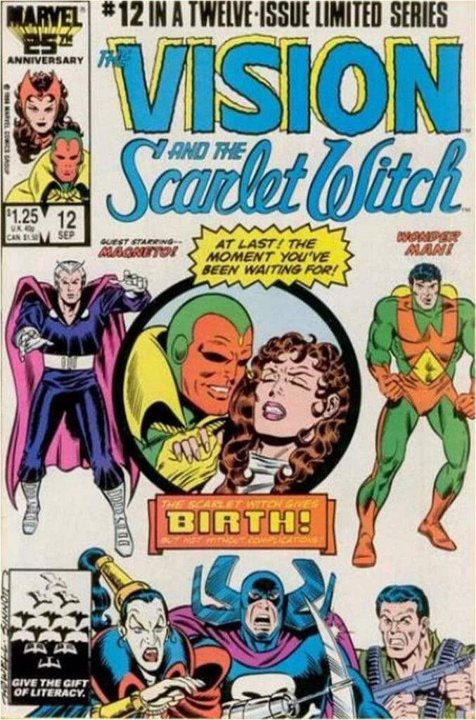 Scarlet Witch Gives Birth to Twin Boys Conceived with the Vision Through Magical Means